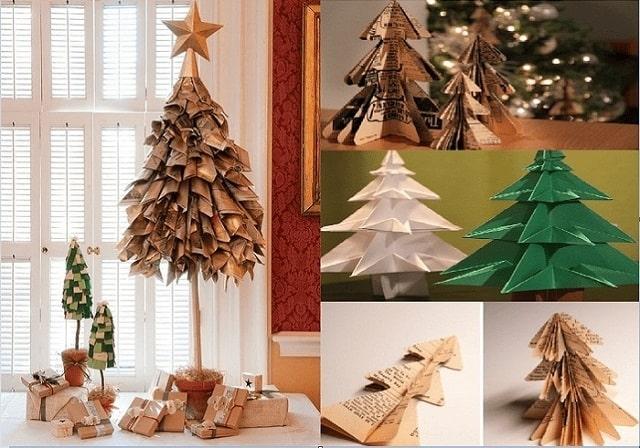 cách xếp cây thông noel bằng giấy
