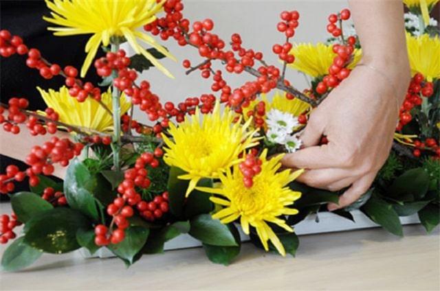 các kiểu cắm hoa cúc vàng (2)