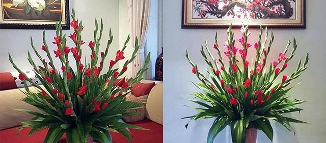 cách cắm hoa ngày tết trên bàn thờ (2)