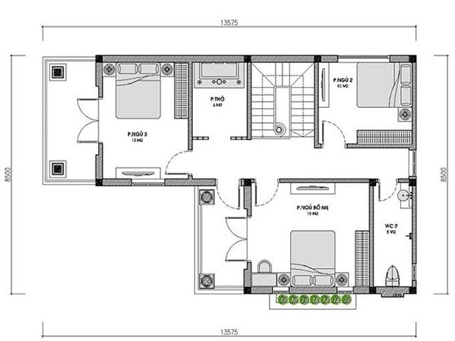 cửa phòng ngủ đối diện cầu thang (1)
