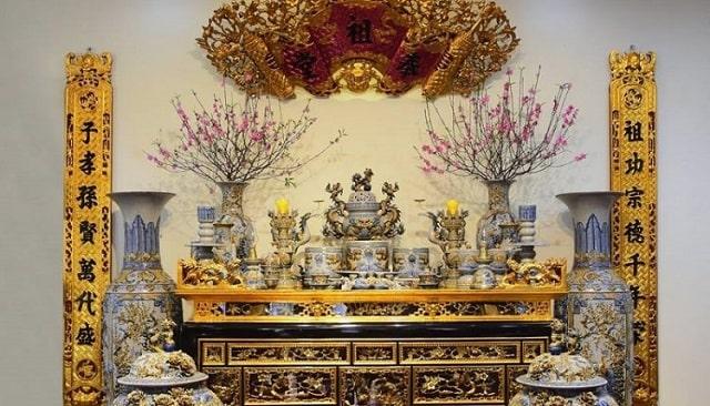 sắp xếp bàn thờ gia tiên đúng cách (2)