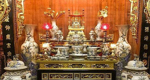 sắp xếp bàn thờ gia tiên đúng cách (3)