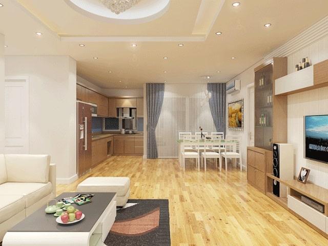 thiết kế phòng khách và bếp liền nhau (1)