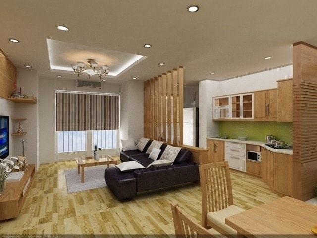 thiết kế phòng khách và bếp liền nhau (2)