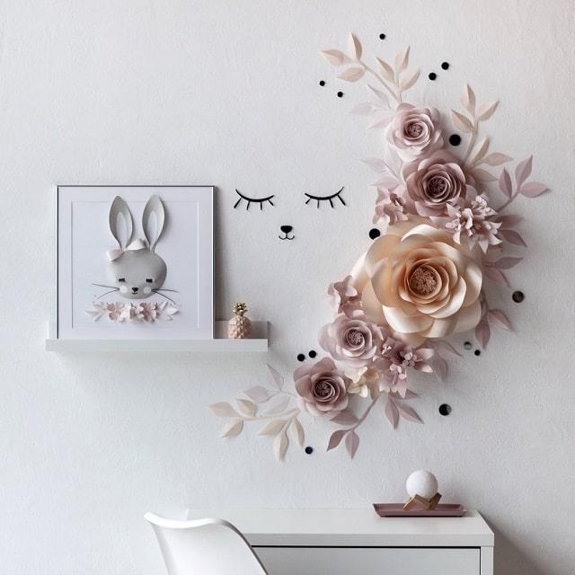 trang trí tường phòng ngủ handmade (2)