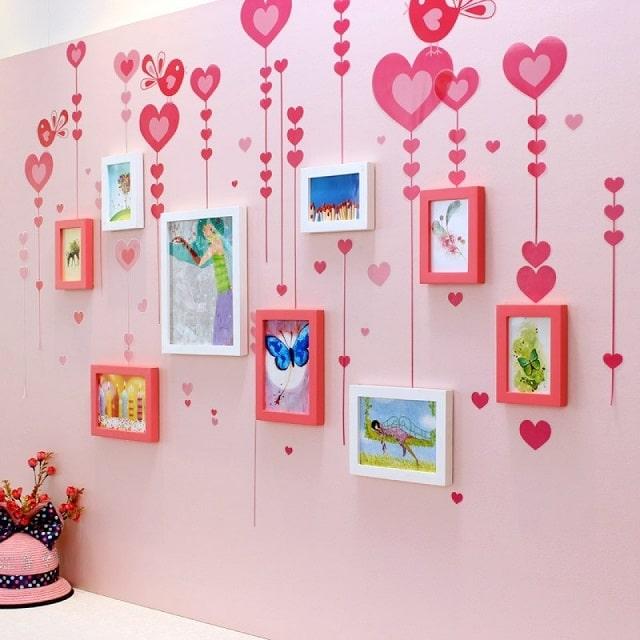 trang trí tường phòng ngủ handmade (3)